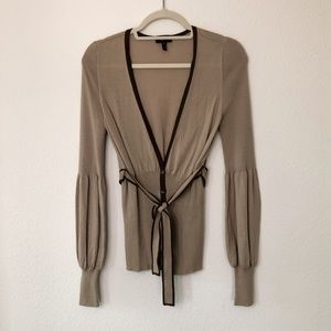 Vintage Escada Tie Waist Button Down Cardigan